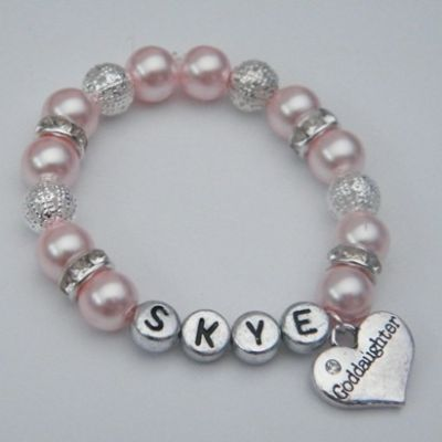 Goddaughter Personalised Bracelet - Sparkle & Bling Style